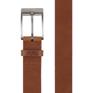 Spurs Wide Tan Leather Belt