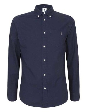 Spurs Mens L/S Dark Navy Shirt