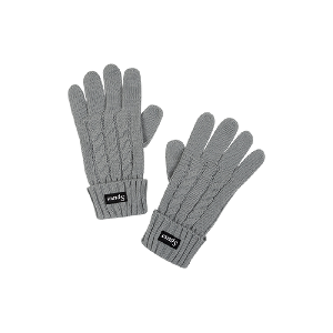 Spurs Ladies Grey Cable Gloves