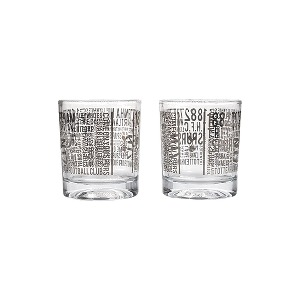 Spurs Printed Whiskey Glasses (2 Pack)