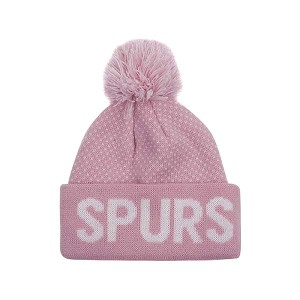 Spurs Baby Girls Pink Bobble Hat