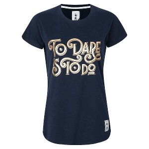 Spurs Womens To Dare is To Do Foil Print T-shirt