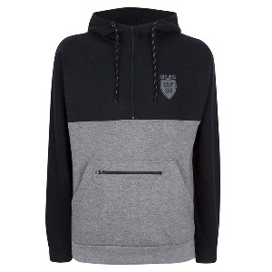 Spurs Mens Zip Pocket Hooded Top