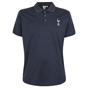 Spurs Mens Diamond Texture Polo