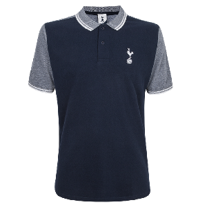 Spurs Mens Contrast Front Panel Polo