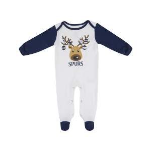 Spurs Christmas Baby Sleepsuit