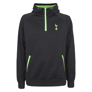 Spurs Mens 1/4 Zip Leisure Wear Hoodie
